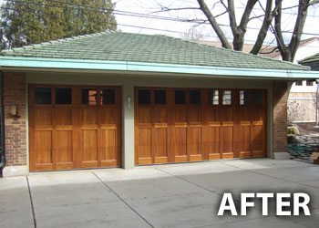 Before After Geis Garage Doors Milwaukee