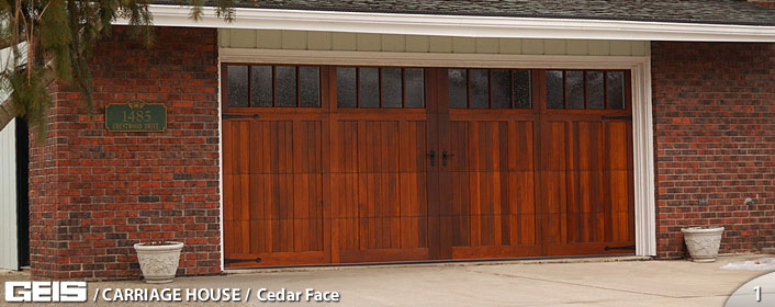 Cedar Face Carriage House Options Geis Garage Doors