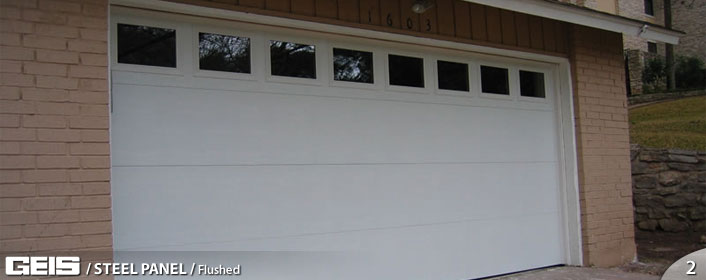 Steel Panel Flush Garage Door from GEIS in Milwaukee