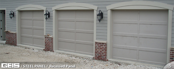 Recessed Panel Steel Panel Geis Garage Doors