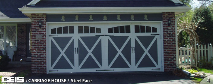 Steel Face Carriage House Geis Garage Doors