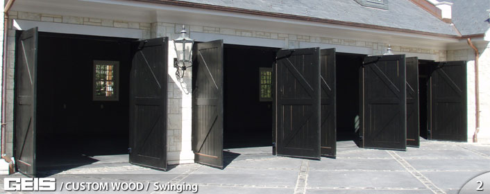 Custom Wood Swinging Garage Door from GEIS in Milwaukee