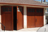 Custom Wood Swinging Garage Door from GEIS in Milwaukee Wisconsin