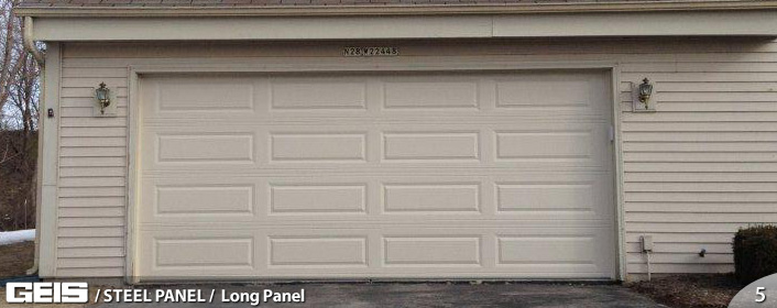 Wide panel steel panel geis garage doors milwaukee for How wide is a garage door
