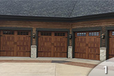Wood-Tone Carriage House Garage Door from GEIS in Milwaukee
